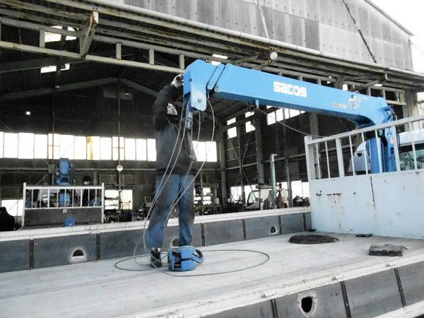 修理:ワイヤーをドラムから外す工程:茨城県坂東市加藤自動車販売