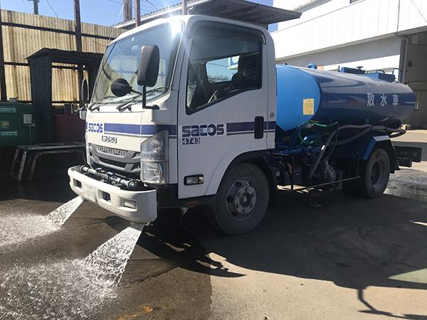 散水車パイプ凍結破損修理:茨城県坂東市の加藤自動車販売